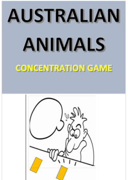 Australian Animals Concentration Game