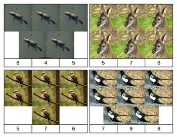 Australian Animals Clip Task Cards