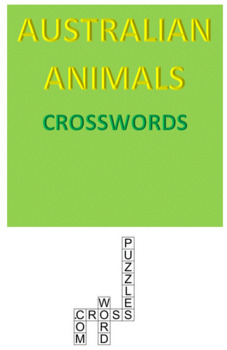 Australian Animals Crossword Puzzles