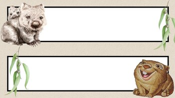 Australian Animals Desk or Tote Tray Labels