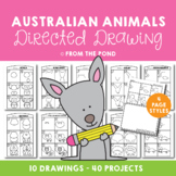 Australian Animals Directed Drawings - Fun Printable Projects