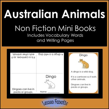 Australian Animals Non Fiction Mini Books