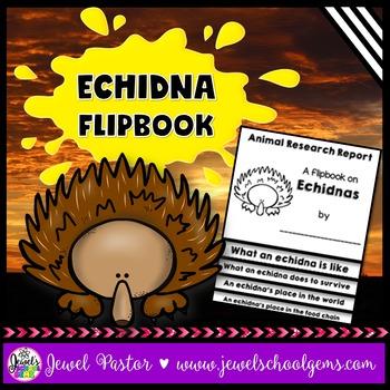 Australian Animals Activities (Echidna Research Flipbook)