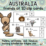 Australian Animals Friends of Ten Clip Cards