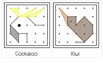 Australian Animals Geoboard Shapes