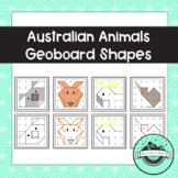 Australian Animals Geoboard Task Cards