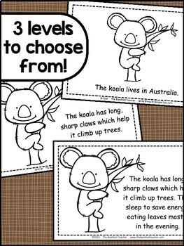 Australian Animals Habitat Readers (3 Levels) + Matching Full Color  Books