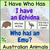 Australian Animals | I Have Who Has | Fun Holiday Activity