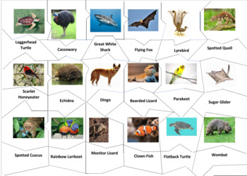 Australian Animals Jigsaw Puzzles