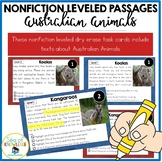 Australian Animals Leveled Nonfiction Reading Passages and Questions