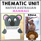 Australian Animals Craft Mammals Thematic Unit