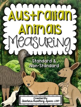 Australian Animals Measuring Book and Measurement Math Center