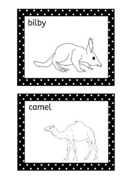 Australian Animals Memory Matching Game