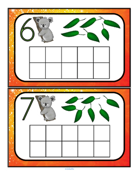 Australian Animals Numbers FREE