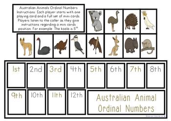 Australian Animals Ordinal Game