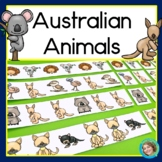 Australian Animals Patterns Math Center with AB, ABC, AAB & ABB patterns