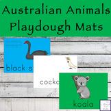 Australian Animals Playdough Mats