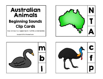 Australian Animals Pre-K Worksheet Pack