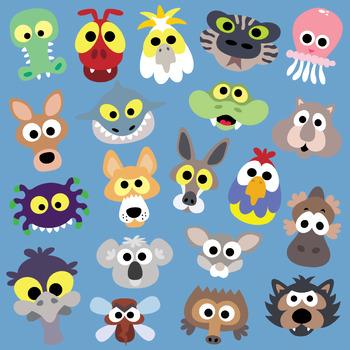 image relating to Animal Masks Printable called Printable Australian Pets Masks Assortment
