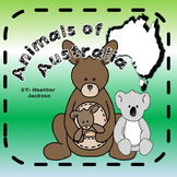 Australian Animals Reading and Activities