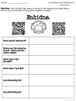 Australian Animals {Researching and Presenting Research} USING QR CODES