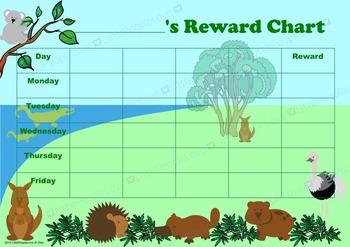 Australian Animals Reward Chart