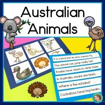 Australian Animals Sentence Picture Match Reading Center
