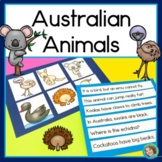 Australian Animals sentence picture match reading center