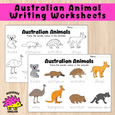 Australian Animals Trace/Colour In Worksheet
