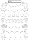 Australian Animals Tracing Lines Activity For Early Years Pre K-1
