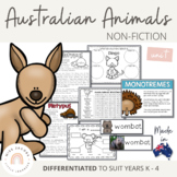 Australian Animals Unit - Australian Curriculum - Living Things