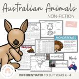 Australian Animals Unit - Australian Curriculum - Living Things
