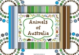 Australian Animals Unit of Work for Preschool and Kindergarten