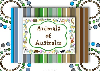 Australian Animals Unit of Work for Preschool and Kindergarten