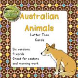 Australian Animals Word Letter Tiles Cards