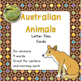 Australian Animals Word Letter Tiles Cards