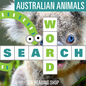 Australian Animals Word Search - Primary Grades - Wordsearch Puzzle
