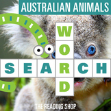 Animals of Australia Word Search Puzzle - 3 Levels Differentiated
