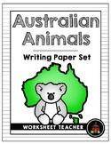 Australian Animals Writing Paper Set