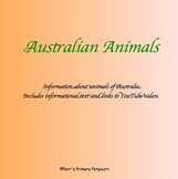 Australian Animals informational text with ParrMr's Science Songs