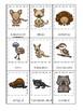 Australian Animals themed 3 Part Matching Game.  Printable Preschool Game
