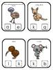 Australian Animals themed Beginning Sounds Clip It Game.Printable Preschool Game