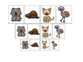 Australian Animals themed Size Sorting. Printable Preschool Game