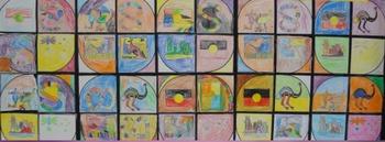 Australian Art and colouring cirlces