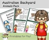 Australian Backyard Animals Pack