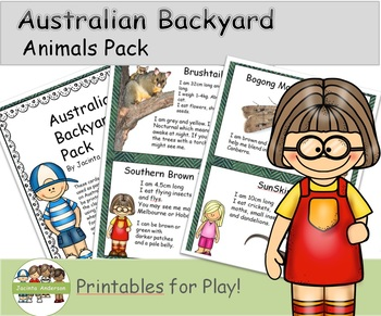 Australian Backyard Animals Pack