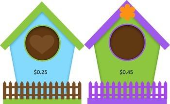 Australian Bird Houses for Sale- Money Math Game