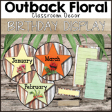 Outback Floral Classroom Decor Birthday Display