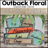 Outback Floral Classroom Decor Labels