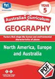 Geography: North America, Europe and Australia – Year 5
